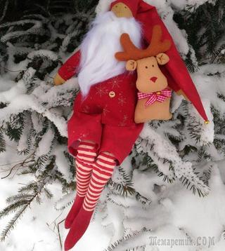 Создаем чудесного Деда Мороза и оленя