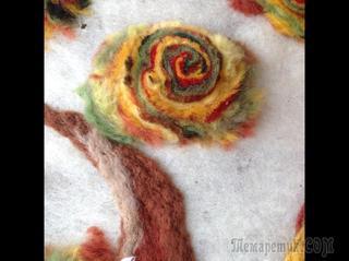 Картина из шерсти, выполнена в технике мокрое валяние