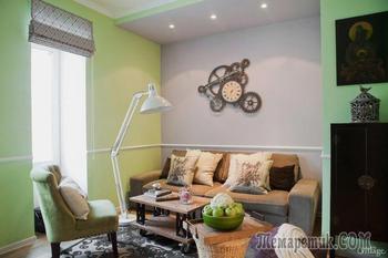 Двухкомнатная квартира с бюджетным ремонтом и оригинальными авторскими решениями