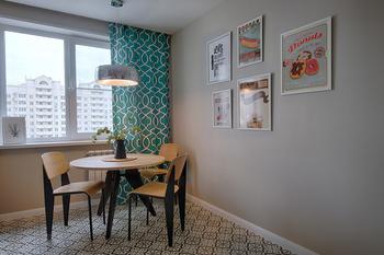 Современная квартира с мебелью в стиле ретро: проект в Москве