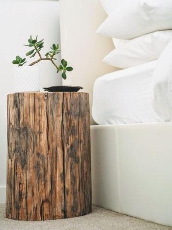 Пни и спилы дерева в интерьере