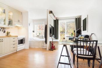 Как зонировать квартиру-студию с неправильной планировкой: 31 квадратный метр сплошного уюта