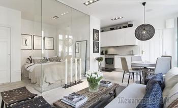 Романтичная квартирка 34 м² в Стокгольме