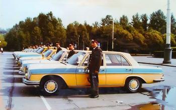 Иномарки на службе советской милиции