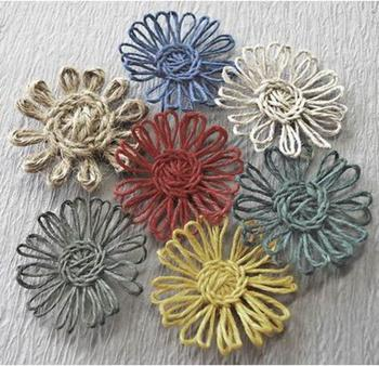 Простые цветы из пряжи и бечёвки