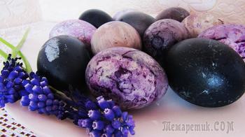 Как покрасить яйца на Пасху чаем каркаде
