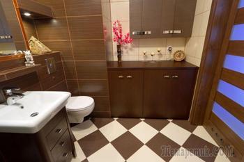 Коричневая ванная комната: реальные фото