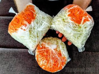 Быстрый рецепт квашеной капусты в пакете