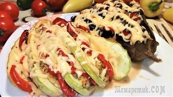 Запеченные овощи в духовке в виде веера.
