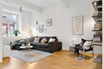 Скандинавский дизайн квартиры в Швеции