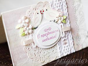 Нежная открытка своими руками