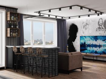 Минские дизайнеры показали, в какой квартире должен жить холостяк