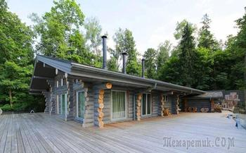 Интерьер деревянного дома из бревна в Подмосковье