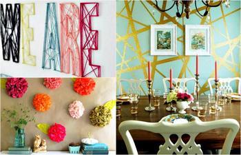Идеи декора стен, которые не потребуют больших затрат