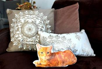 Оригинальная подушка своими руками