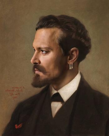 Художник перенёс звёзд в прошлые века, превратив их в героев классических картин