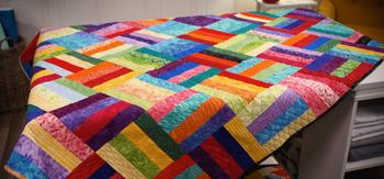 Красивое стеганое одеяло