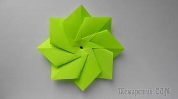 Простой цветок из бумаги. Поделки оригами для начинающих