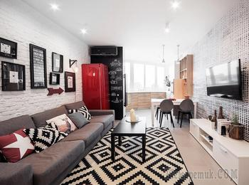 Стильная квартира для холостяка