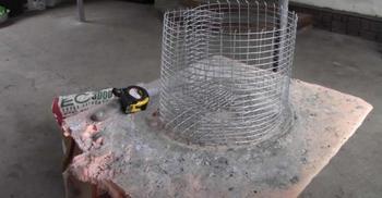 Декоративный цветочный горшок из бетона