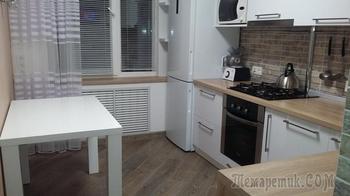 Кухня до и после ремонта, в который вложено $3800
