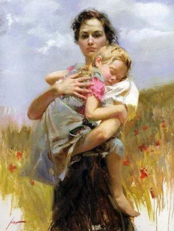 Тема материнства в творчестве Пино Даени