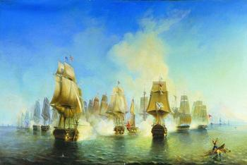 Стихия волн, морские сражения и кораблекрушения на картинах русских художников -маринистов XIX века