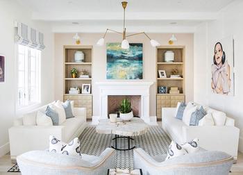 Пастель и смелые цветовые сочетания: неординарный интерьер дома в Калифорнии