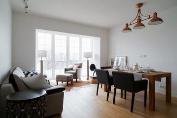 Интерьер трехкомнатной квартиры 57 кв. м.