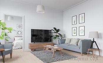Двушка 70 м² с базовой мебелью из IKEA