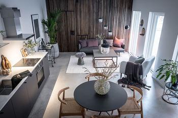Современная квартира с нотками экзотики