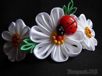 Атласные цветы своими руками