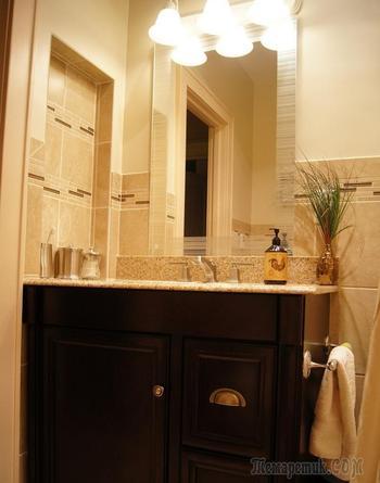 Красота по-американски в ванной комнате