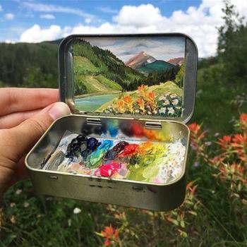 Миниатюрные пейзажи от художницы Хейди Аннализ