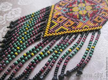 Бисерное ткачество: создаем красочный гердан