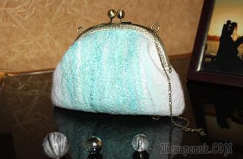 Мастер-класс по валянию свадебной сумочки с фермуаром