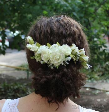 Создаем свадебный гребень с розами