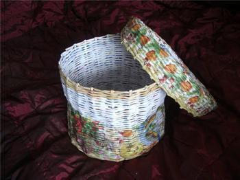 Плетёная корзина для овощей