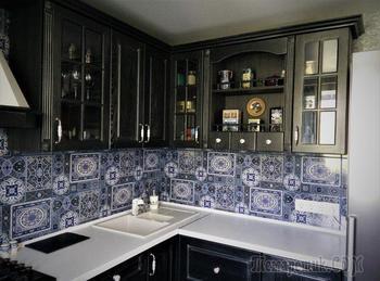Кухня: черный гарнитур с авантюрной предысторией