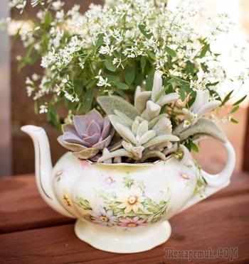 Декор из старой посуды: вдохновляющие идеи