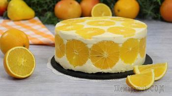 """Покорит Всех! Муссовый торт """"Апельсин с апельсином в апельсине"""" Для любителей цитрусовой выпечки!"""