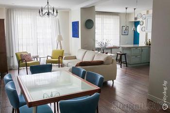 Трехкомнатная квартира с кабинетом вместо лоджии