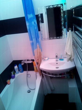 Ванная комната: зона релаксации на 2,25 квадратных метров