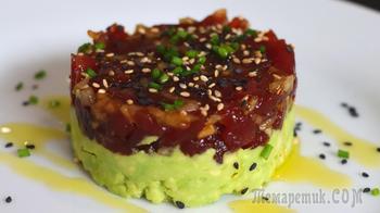 Отличная закуска из рыбы за 10 минут // Тартар из тунца с авокадо