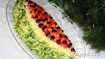 Шикарный салат «Арбузная долька» – сражает наповал!