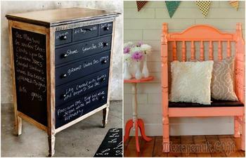 Потрясные идеи, которые вдохновят на переделку и обновление старой мебели