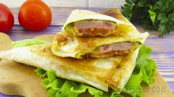 Хрустящая закуска из лаваша – треугольники!
