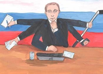 Школьников и детсадовцев по всей России попросили рисовать Путина