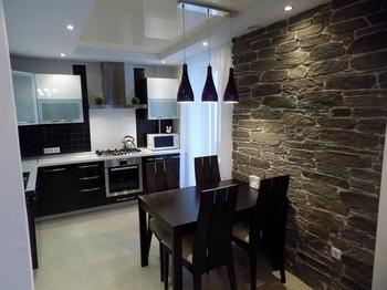 Кухня: черно-белая