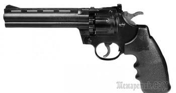 Пистолет Crosman 357-6 — пневматическая реплика боевого револьвера Colt Pithon